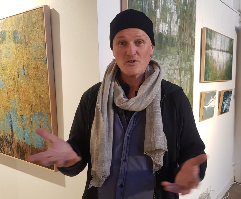 Peter Finlay talking about his art